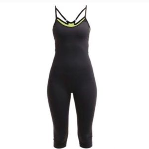Nike Black Bodysuit with Neon Sports Bra NWT Large